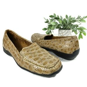 Naturalizer Womens Loafers Croc Embossed 7.5 Wid3
